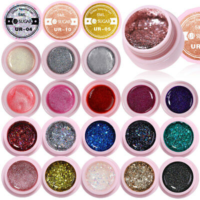 UR SUGAR 5ml Nail UV Gel Polish Soak off Glitter Sequins Nail Art UV Gel Nail