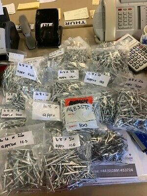 Job Lot Of Rivets, Asstd Sizes. Approx 2645