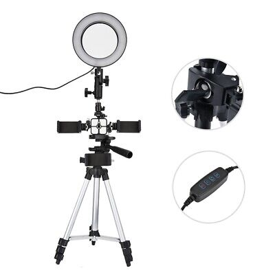 LED dimmbar Ringleuchte Ringlicht + Lampenstativ Foto Studio Video Ring Licht