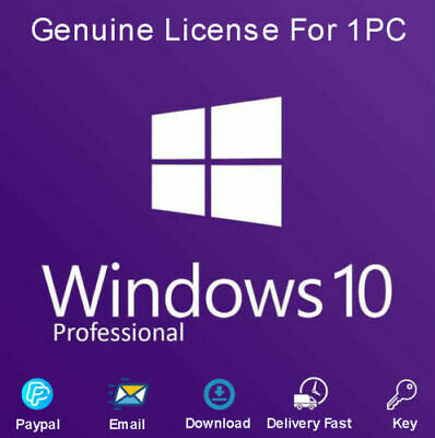 Microsoft Windows 10 Professional Pro Key 32 / 64Bit Activation Code License Key
