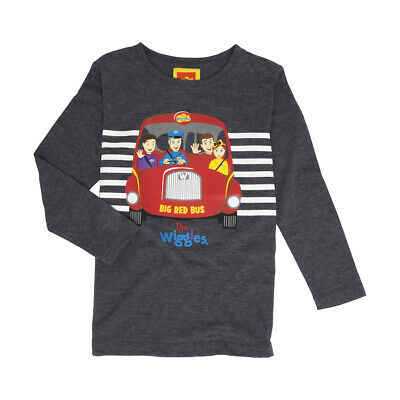 THE WIGGLES Boys Licensed tee t shirt top long sleeve NEW BIG RED BUS
