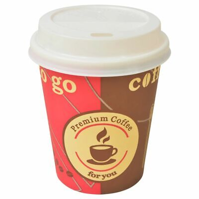vidaXL 1000x Disposable Coffee Cups with Lids 240ml(8oz) Takeaway Event Party