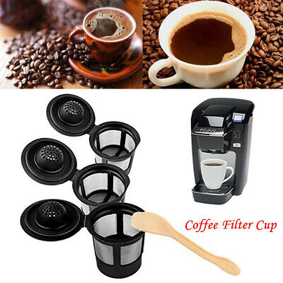 3 PCS K Cups Reusable Replacement Coffee Filter Refillable Holder For Keurig