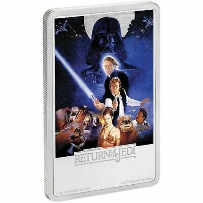 2017 STAR WARS The Return Of The Jedi Poster Coin - 1 oz silver - With COA