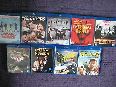 Blu-Ray Bundle X 9 Films Hyde Park On Hudson Need For Speed 3D Day Of The Dead