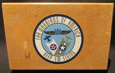 EAA Warbirds of America Keep 'Em Flying Vintage Wooden Trinket Box Approx 7 X 5""