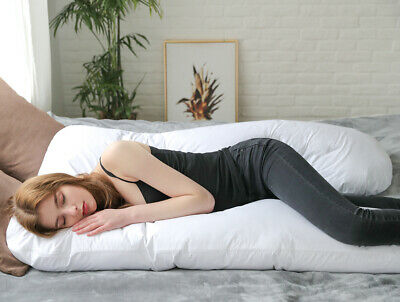 Full Body Pregnancy Pillow,U-Shaped Maternity Pillow With Removable Cotton Cover