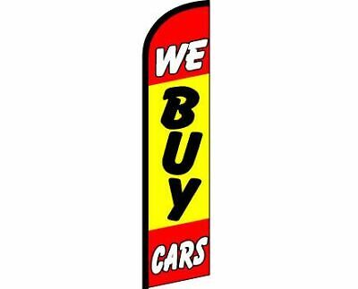 WE BUY CARS Windless Full Curve Top Advertising Banner Flag New Used Car Lot Car