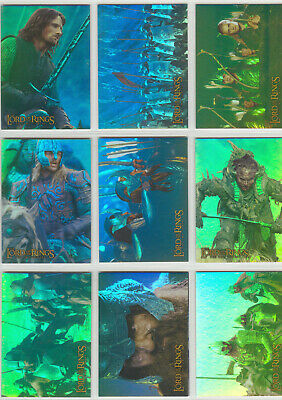 Lord Of The Rings The Two Towers Complete 10 Card Prismatic Foil Set
