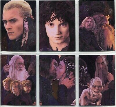 Lord Of The Rings Masterpieces 2 Complete 6 Card Etched Foil Puzzle Chase Set