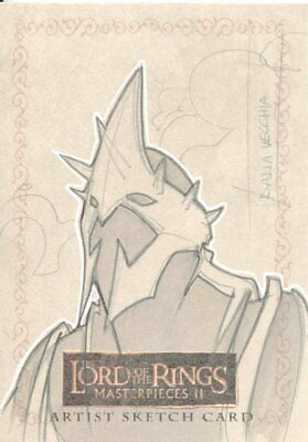 Lord Of The Rings Masterpieces 2 Sketch Card By Christian Dalla Vecchia