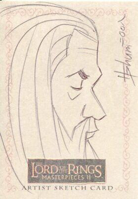 Lord Of The Rings Masterpieces 2 Sketch Card By Howard Shum
