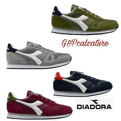 Diadora scarpa uomo simple run-sneakers da ginnastica-sporive-casual tutticolori