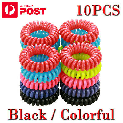 10Pcs Women Girl Lady Elastic Rubber Spiral Bungee Plastic Hair Tie Band
