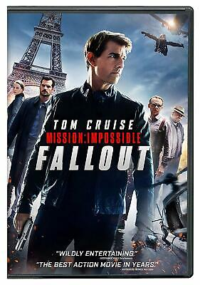 MISSION: IMPOSSIBLE - FALLOUT 2018 DVD With Tom Cruise >NEW<
