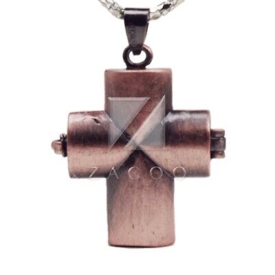 1pc Brass Pendants Cross/Barrel/Cylinder 6x4mm Hole Antique Copper/Antique Brass