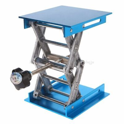 4 x 4'' Aluminum Router Table Lift Woodworking Engraving Lab Lifting Stand Rack