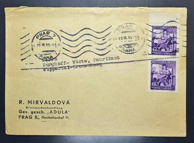 GERMANY in occupied CZECHOSLOVAKIA 1943 Music Wagner on Stamp Shop Cover PRAHA >