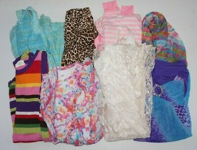 Girls Sz 7 8 Clothing Lot of 19 Pieces Dresses Shirts Tunic Formal Name Brand