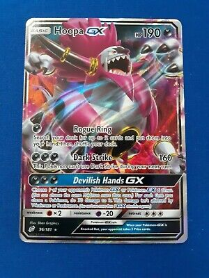 Pokemon Hoopa GX 96/181 Tag Team Up IN-HAND Near Mint Holo NM Ready to Ship