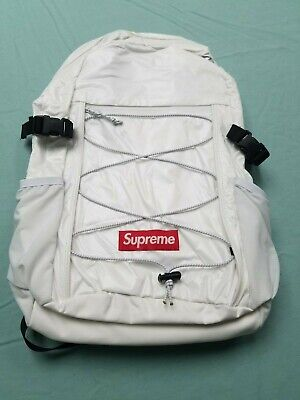 watch d7c0c e465c Supreme FW17 Backpack Gloss Bag Back Pack White