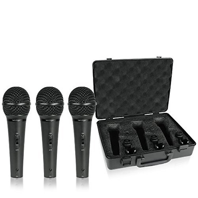Behringer XM1800S Ultravoice Dynamic Microphone (Pack of 3)(color may...
