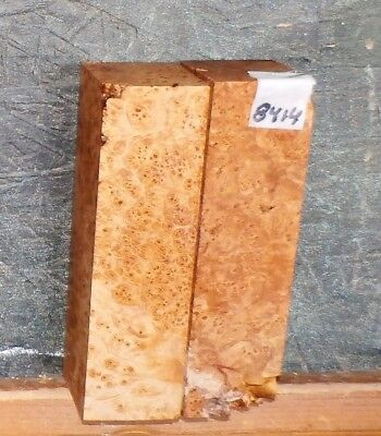Birdseye Maple Burl 8414 EXOTIC INLAY WOOD - ART - CAR - GUN 6 x 1.75 x 1.75