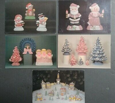 Lot of 28 Ceramic Mold Postcards from Howell's Molds, 1988 & 89