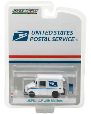 Usps Llv Mail Delivery Truck Mailbox Hobby Greenlight Diecast 1:64