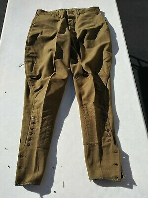 WW2 US Army Button Fly Wool Cavalry Breaches/Trousers Size 32x29