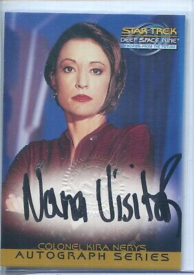 Star Trek Deep Space 9 Memories From The Future A4 Nana Visitor Autograph