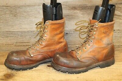7dd6dbe98d7 IRON AGE MENS Brown Leather Lace Up Steel Toe Work Boots Sz 11 M ...