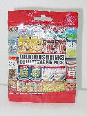 Disney Pin Collectible  DELICIOUS DRINKS   Mystery Pack Randomly SEALED Set of 5