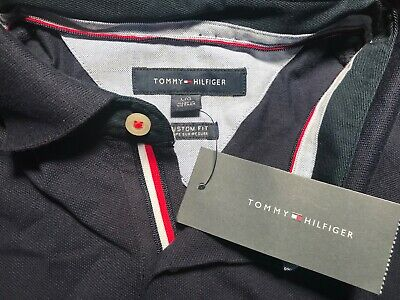 NWT Mens Tommy Hilfiger S/S Polo/Golf Shirt Large (L) Navy Blue - Cotton
