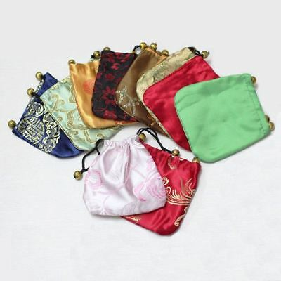 10pcs  Luxury Mixed silk Wedding Party Favor Jewelry Gift Pouch Bags
