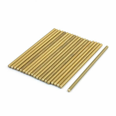 Lathe 50mm x 2mm Brass Axle Round Stock Drill Rod Bar 20Pcs