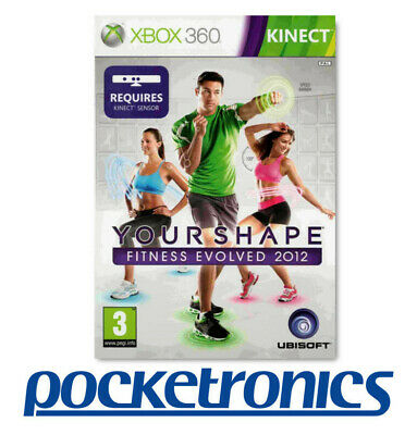 XBOX 360 Your Shape Fitness Evolved 2012 LIVE KINECT Game BRAND NEW / SEALED