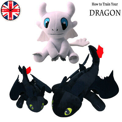 How to Train Your Dragon:Toothless Night Fury Light Fury Soft Toy Plush Doll UK