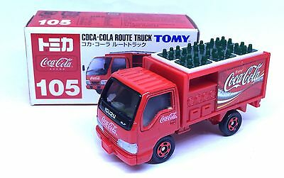 JAPAN TOMY TOMICA No.105 COCA COLA ISUZU ELF ROUTE TRUCK DELIVERY 1/68 DIECAST