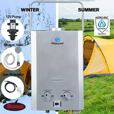 Ridgeyard Instant Hot Water Heater Camping RV LPG Outdoor Shower IAPMO R&T CE