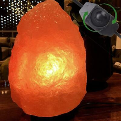 Himalayan Ionic Crystal Salt Rock Lamp +Dimmer Cable Cord Switch US Socket 1-2kg
