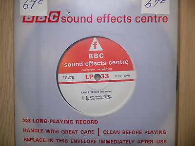 """BBC Sound Effects 7"""" Record - Badminton & Table Tennis (No Crowds)"""