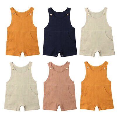 US Adorable Newborn Baby Boy Girl Summer Romper Bodysuit Jumpsuit Outfit Clothes