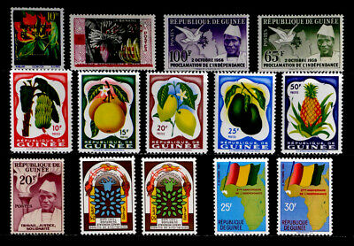 Guinea: 1959 - 60 Stamp Collection Mint Never Hinged With Sets