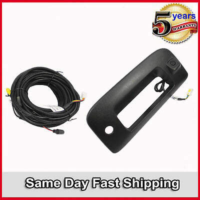 For 07-14 Chevy GMC Black Tailgate Handle Bezel W//Camera Assembled /& 8M Cable