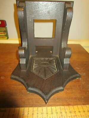 Antique carved Oak Wall Bracket for Antique Bracket Clock - Pendulum hole