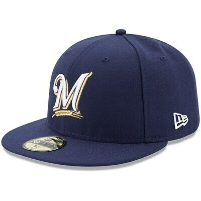 super popular 86784 a5a11 New Era Milwaukee Brewers Youth Navy Authentic Collection On-Field Game  59FIFTY