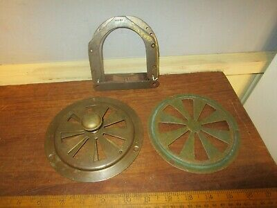 Antique Brass Ships Cabin Vents .6 in.Brass circular opening adustable air vent