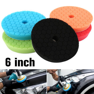 8Pcs 6 inch (150mm) Buffing Polishing Sponge Pads Kit For Car Polisher Buffer