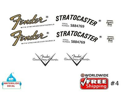 Fender Stratocaster Guitar Decal Headstock Inlay Decal Restoration Logo 4